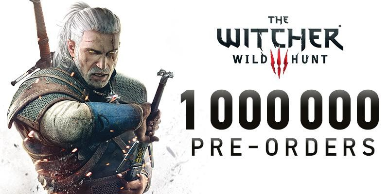 Eine Million Vorbestellungen von The Witcher 3: Wild Hunt.