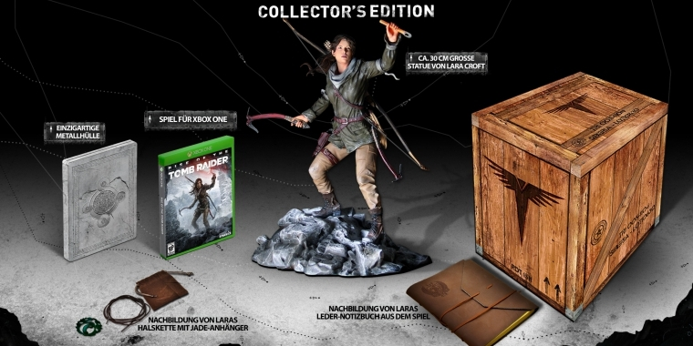 Rise of the Tomb Raider: Collector's Edition ab dem 13. November erhältlich.