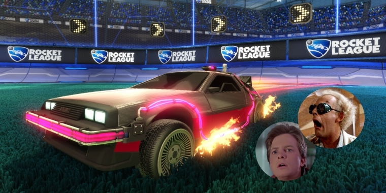 Great Scott! Mit dem Back to the Future Car Pack kommt Zurück in die Zukunft in die Rocket League-Partien.