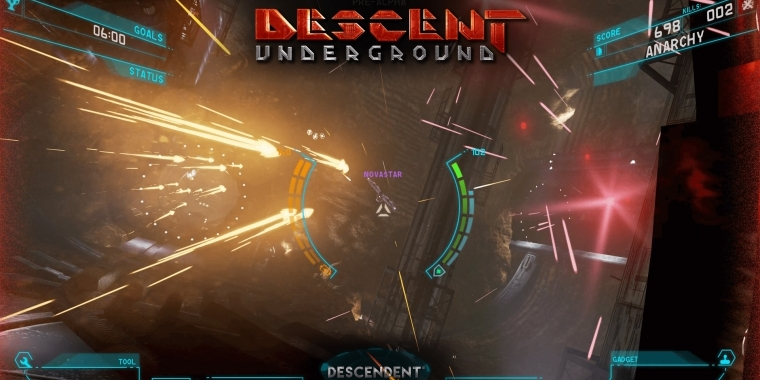 Klassisches Spielgefühl, (noch) magerer Inhalt: Die Early Access-Version von Descent: Underground steht Backern zum Download bereit.