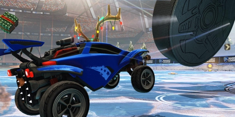 Am 14. Dezember wirds winterlich in Rocket League.