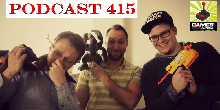 Games Aktuell Podcast 415: Max, Andy, Luca (von links)