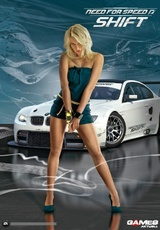 Sexy Need for Speed Shift-Wendeposter in der neuen Games Aktuell